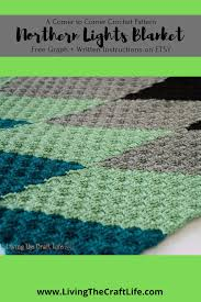 Northern Lights Crochet Pattern Living The Craft Life Northern Lights C2c Blanket Free Graph