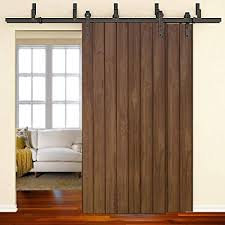 winsoon 11ft byp barn door hardware sliding kit 4 16ft for interior exterior cabinet closet