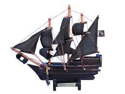 wooden blackbeards queen annes revenge model pirate ship 7