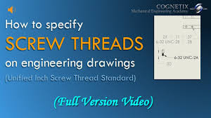 Inch Screw Thread Chart How To Define Screw Threads On Engineering Drawings Unified Inch Screw Thread Standard
