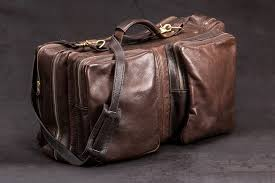 american bison leather flight bag