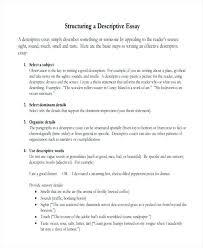 Essay Writing Tips Describe Myself Example Of Description