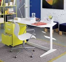 lime green office furniture. Furniture , Modern Office Desk For Home : White With Lime Green