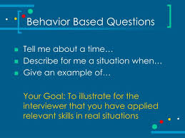 Behaviour Based Questions Ppt The Art Of Interviewing Powerpoint Presentation Id 268893