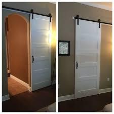 36 x 96 interior barn door modern barn door for arched doorway door homedepot