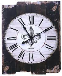country style wall clock lulu decor french rustic round wood clocks australia
