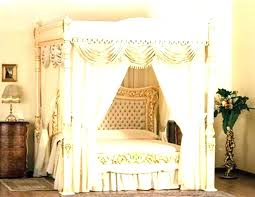 Sheer Bed Canopy Curtains For Frame With Queen Curtain Rods Beds ...