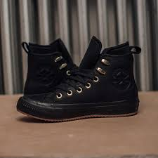 waterproof black leather hi top chuck taylor all star women