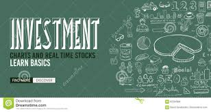 Investment Style Chart Investment Chart Concept With Doodle Design Style Stock