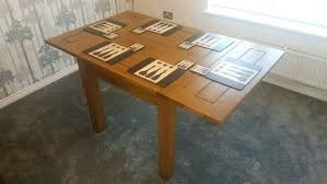hygena square solid wood dining table 4 chairs and john lewis extendable oak optional in kitchen
