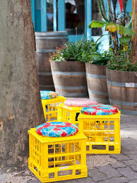 10 create milk crate stools for your garden