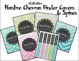 Free Editable Binder Covers And Spines Chevron And Chalkboard Editable Binder Covers And Spines