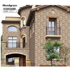 brick exterior outdoor stone wall tiles 300x600mm for villa