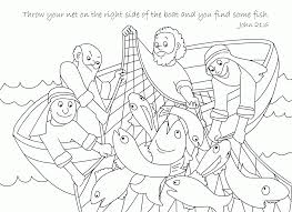 Small Picture Free Bible Coloring Page A Net Full Of Fish Coloring Home