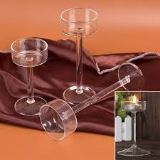 new style fashion candlestick goblet tall candlesticks 2018 classic glass candle holder wedding bar party home decor decoration set of 3 candle holders set