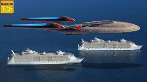 Enterprise Size Comparison Chart The Real Size Of Star Trek Ships Pt 1 Federation Vessels