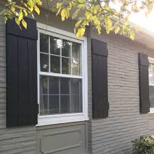 black exterior shutters. Plain Exterior DIY Exterior Shutters And Black
