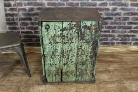 vintage metal cabinet small distressed
