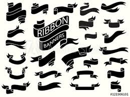 Ribbon Banner Template Black And White Black Ribbon Banners Design Template Buy This Stock Vector