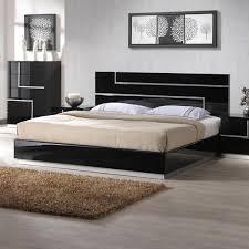 black modern bedroom furniture.  Black Platform Bed Black With Modern Bedroom Furniture