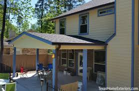 patio covers houston. Exellent Covers Patio Cover Built By Texas Home Exteriors Houston The Woodlands Spring TX In Covers E