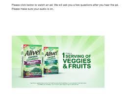 a survey about vitamins