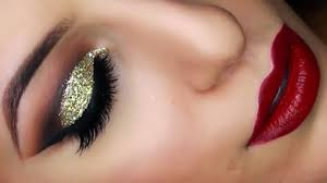 gold glitter cut crease smokey eye new years eve makeup tutorial video dailymotion