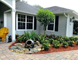 simple landscaping ideas. Small Front Entrance Landscaping Ideas Inexpensive Yard Walkway Simple Garden Phenomenal P