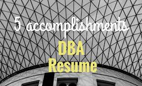 5 Accomplishments To Make Your Database Administrator Resume Stand