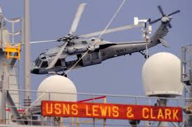 u s department of defense photo essay an mh 60s knight hawk helicopter prepares to pick up cargo from the usns lewis