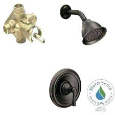 oil rubbed bronze shower faucet single handle 1 spray performance trim kit with valve handles moen