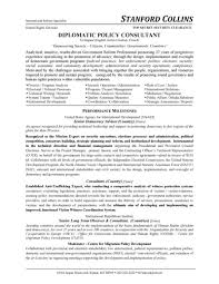 diplomatic policy consultant resumefree resume templates