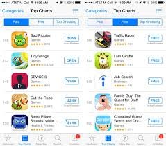 Chart App Iphone Ios App Store Top Charts Now Display 150 Results Down From