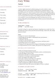 2 Acting Cv Template Free Download