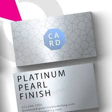 Platinum Pearl Business Cards Platinum Pearl Business From