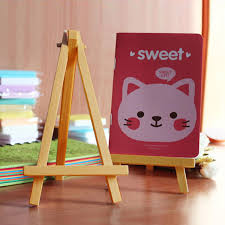 5pcs children mini wooden display easel holder stand for art painting canvas decoration blackboards mobile phone