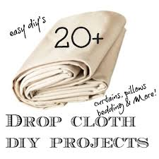 20 drop cloth projects drop cloths take paint well are sy and iron crisply be sure to wash the drop cloths first to pre shrink and remove sizing