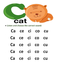 Children should understand letter identification to move on to sound/symbol relationships. Letter C Interactive Activity
