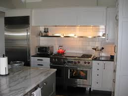 Stainless Shelves Kitchen Stainless Steel Shelving Above Range With Warming Lights Above To