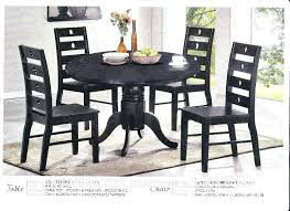 marble top round dining table set black with wooden leg malaysia