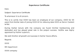 What Is Experience Certificate Doc Wisdomjobs Com