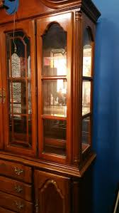 China Cabinet With Hutch Lexington Solid Wood Cherry Lighted China Cabinet Hutch For Sale