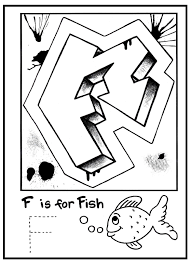 Graffiti Letter Coloring Pages For Kids Printable Printable