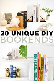I'd like to share with you my favourite ideas for DIY bookends that will