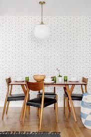 dining room wallpaper. geometric wallpaper dining room e