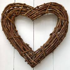 Large Wicker Heart With Lights Large Natural Rattan Heart By Favour Lane