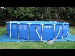 12ft x 30in metal frame pool set intex 1 500 gal hr 5 678 l hr filter pump model 635t 636t 6 51