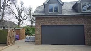 uk modified hormann sectional 4822 x 2100mm lpu40 l ribbed garage door in metallic an ch703 with matching 55mm profiles and no locals