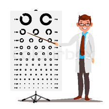 Male Ophthalmology Vector Sight Stock Vector Colourbox