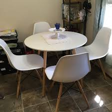 office dining table. Aingoo Modern Leisure Wooden Tea Table Office Dining 80*80*71CM White Vogue Carpenter Round Coffee Desk-in Tables From Furniture H